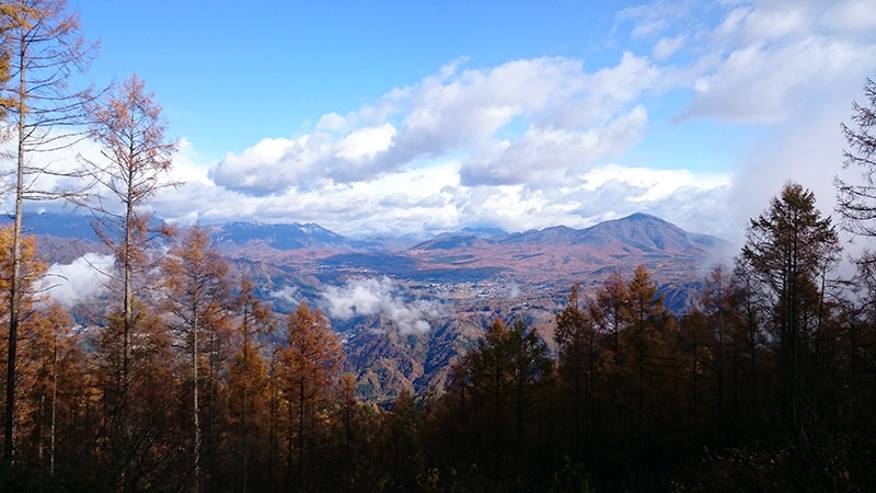 11月3日AM9時陣場平山の家からの風景