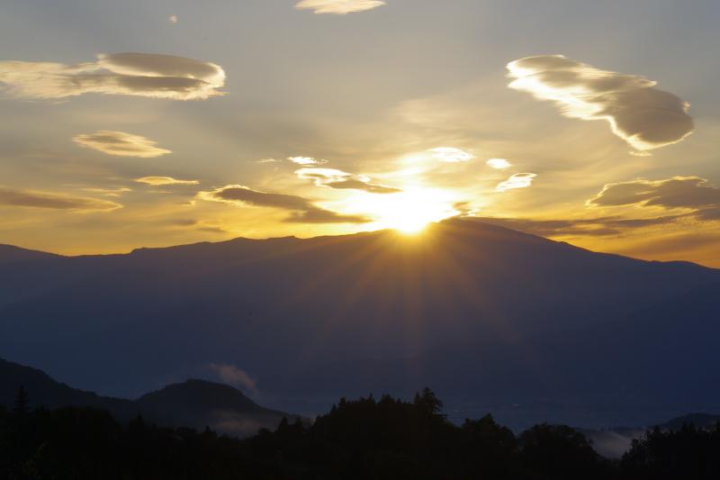 菅平からの日の出