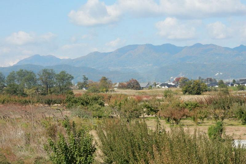 松代から陣場平山の眺め