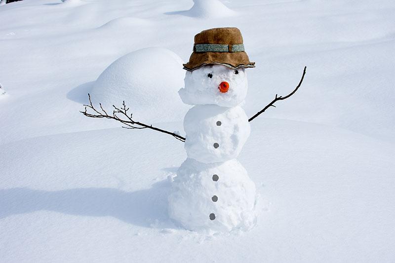 七二会でカナダの雪だるまを再現