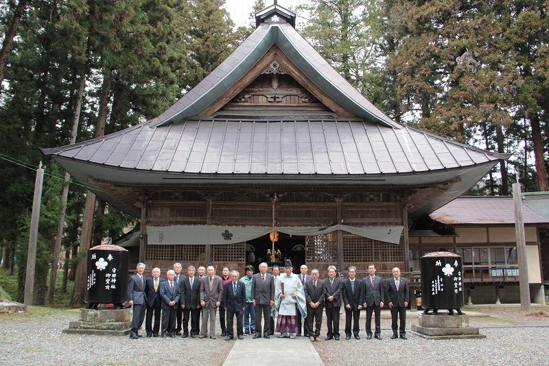 守田神社天水鉢修復完成式