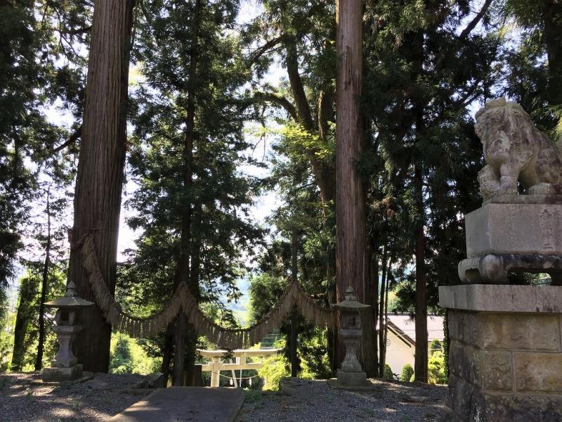 蝉しぐれの守田神社